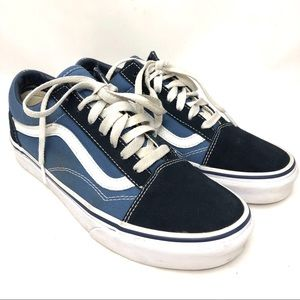 Vans old skool blue & white suede-canvas women 7.5